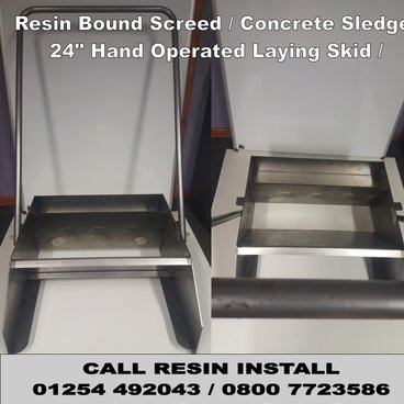 "Resin Bound Screed sledge / Concrete Sledge / 24"" Hand Operated Laying Skid / Resin Bound tools"