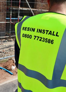 resin install Commercial resin bound paving