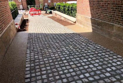 Commercial resin bound paving foot path