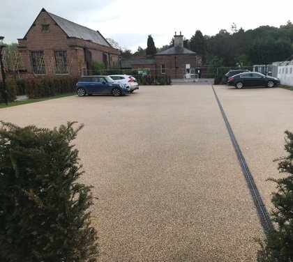 resin bound Commercial paving car park 2