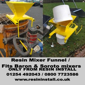 Resin mixer funnel, Baron, Soroto , resin bound tools