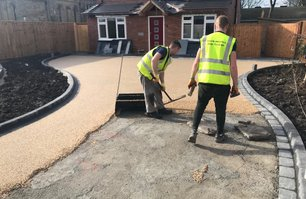 resin driveway installed by resin install twin driveways whats mine is yours