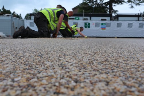 installing a resin bound car park