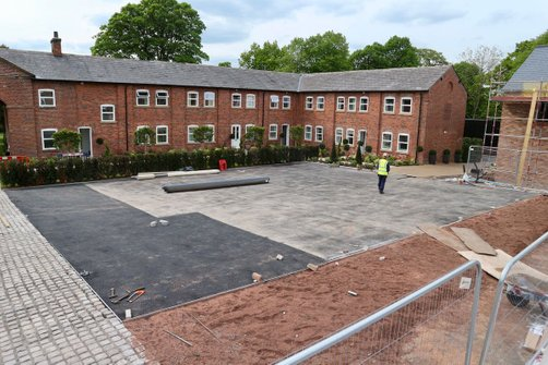 Commercial resin bound paving parking
