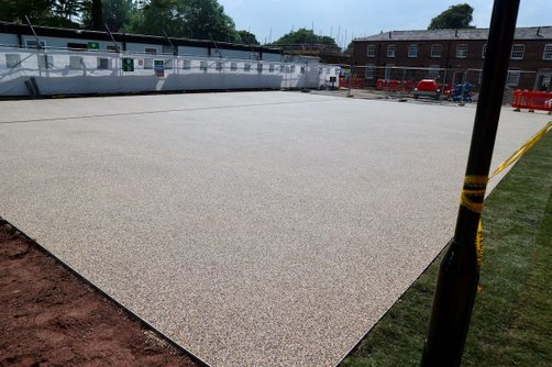 Commercial resin bound paving car park