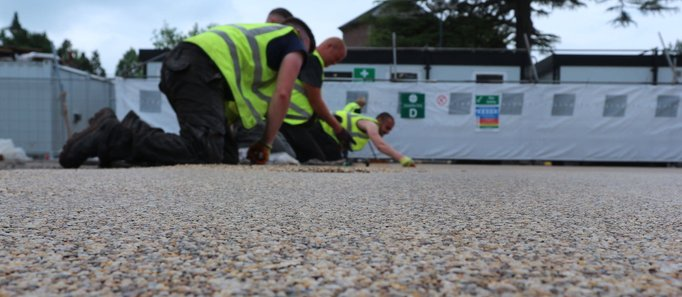 Commercial resin bound paving carpark
