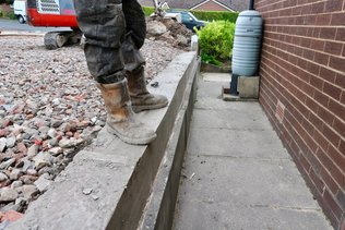 driveway extention inc shuttering