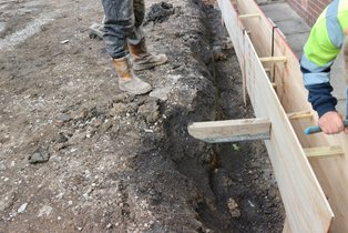 shuttering added to a blackburn driveway to extend the drive
