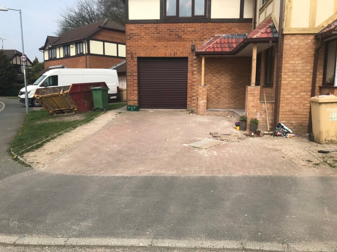 resin-driveway-horwich-bolton-before-block-paving-removed-1