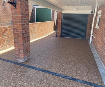 before picture of a resin driveway balackburn